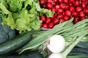 cerezas, hotalizas, verduras